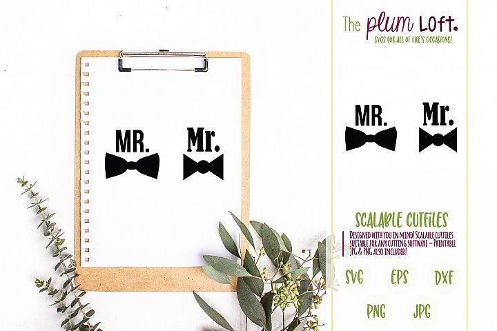 Mr. Bowtie Groom - SVG design