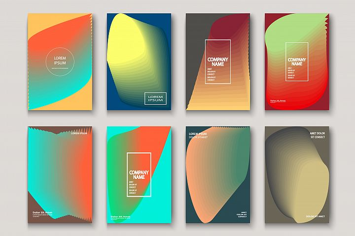 Trendy cool fluid neon abstract modern covers geometric