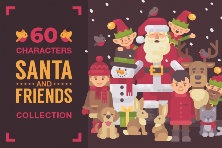 Santa & Friends - Christmas characters