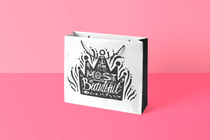 Girl Power Quote Lettering