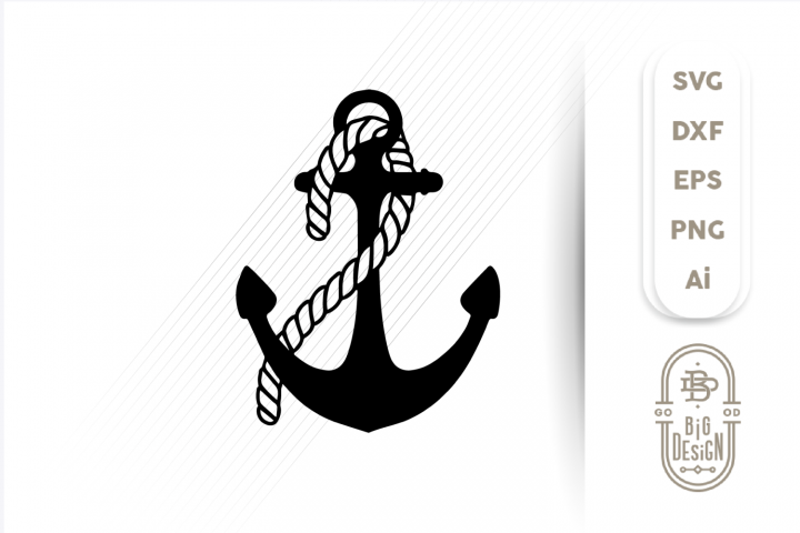 Anchor SVG, Anchor with Rope, Sailor SVG