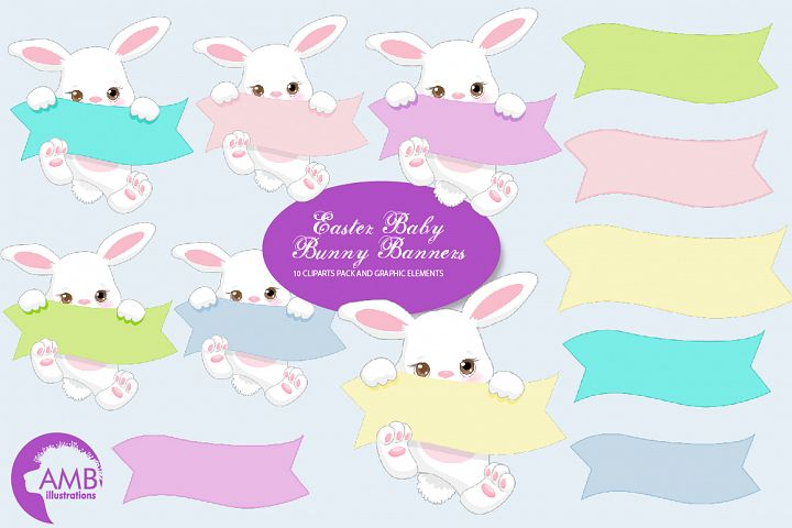 Cute Little Bunnies Clipart AMB-2189