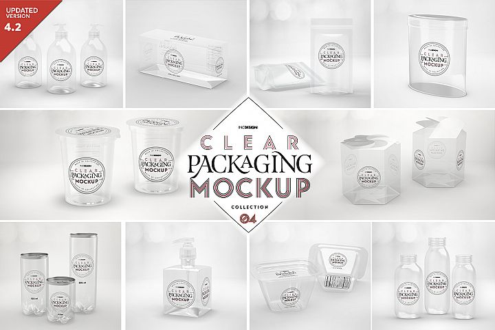 VOL.4 Clear Packaging Mockup Collection
