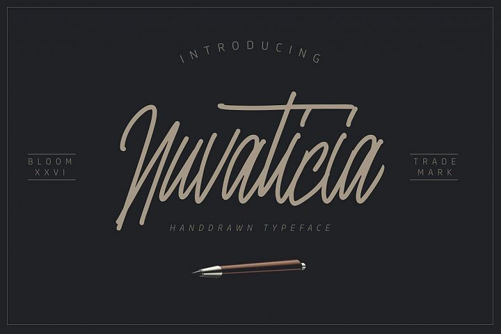 Nuvanticia Typeface + free bonus 43 Vector Skull