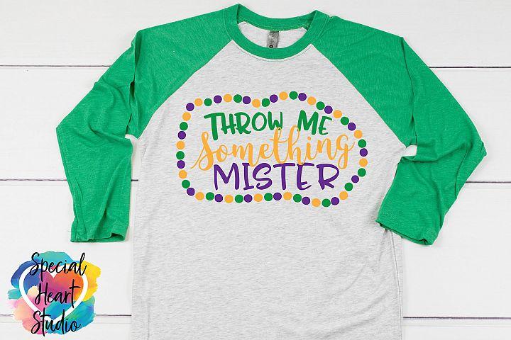 Throw me something mister SVG - A fun Mardi Gras cut file