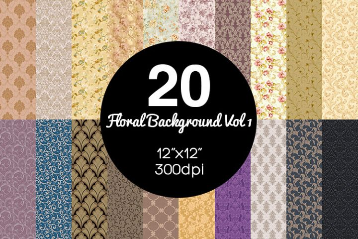 20 Floral Background Vol 1