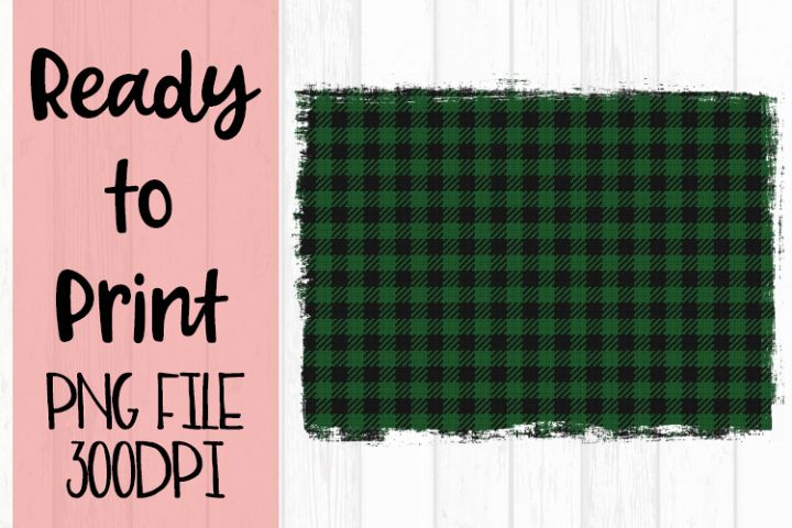 Green Buffalo Plaid Background Ready to Print example image 1