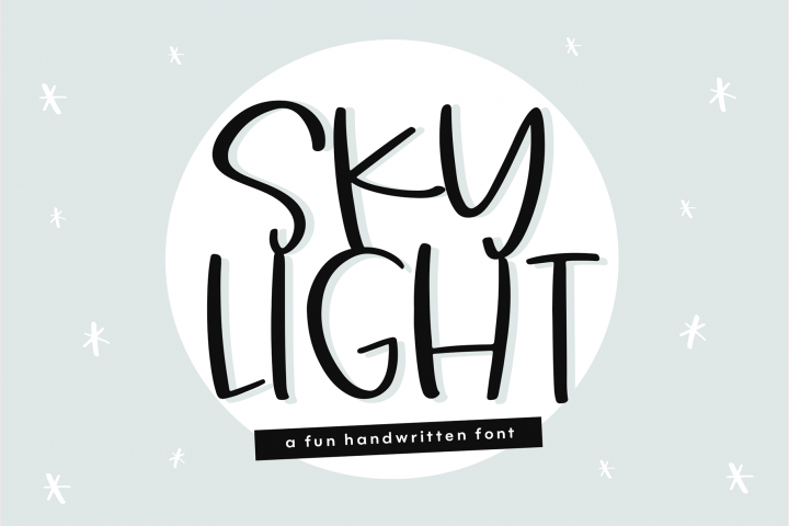 Sky Light - A Quirky Handwritten Font