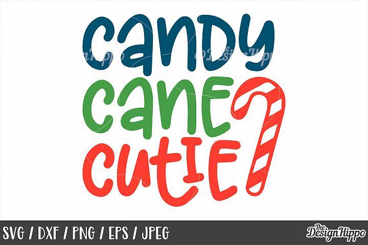 Christmas, Candy Cane Cutie, SVG, PNG, DXF, Cricut, Cut File