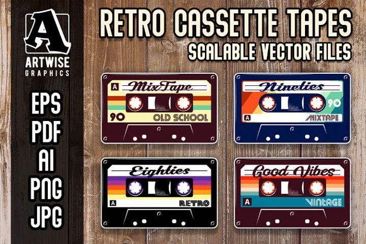 Retro Vintage Cassette Tapes Graphics