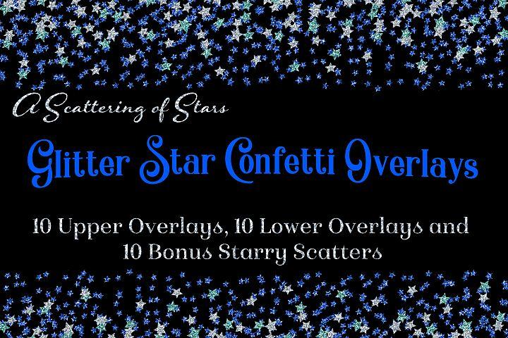 Glitter Star Confetti Overlays - A Scattering of Stars