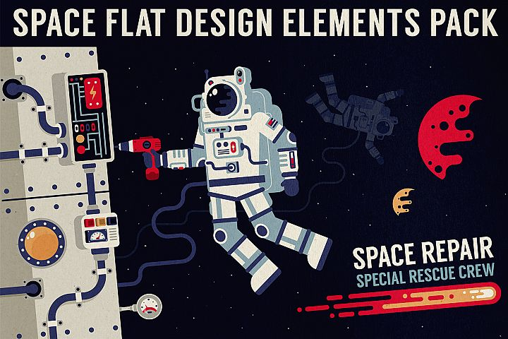 Space Design Elements Pack