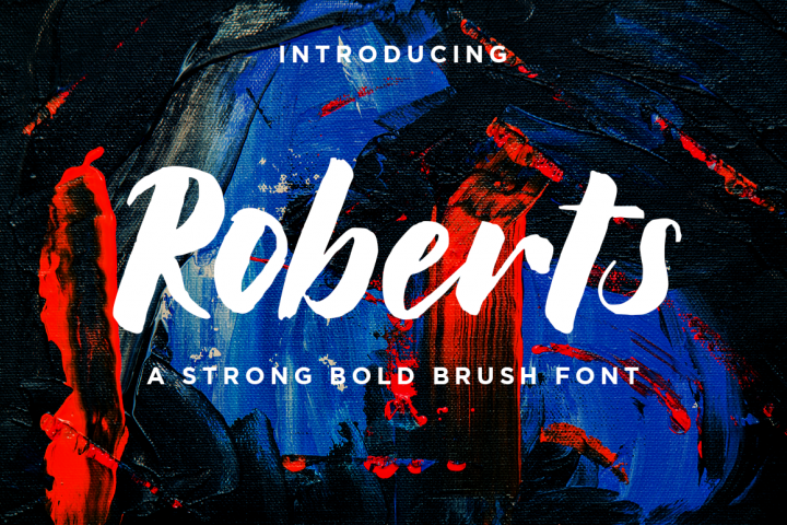 Roberts // Strong Bold Brush Script