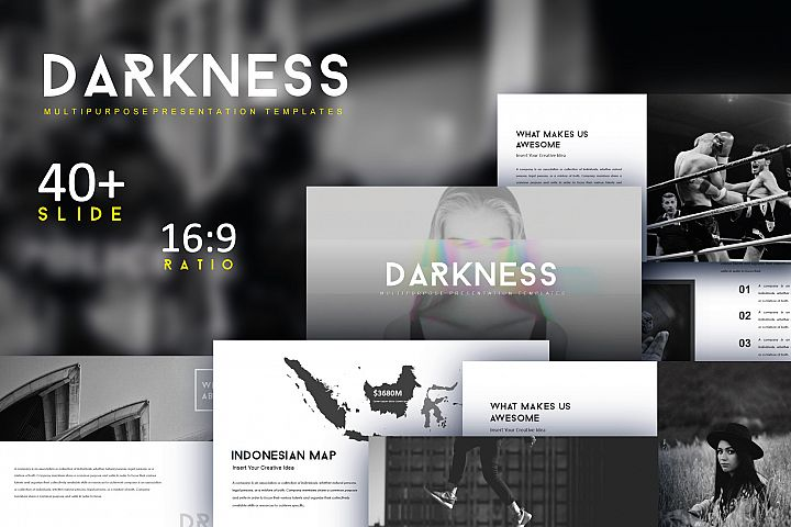 Darkness Multipurpose Keynote Templates