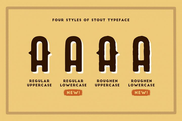 STOUT Typeface - Free Font of The Week Design0