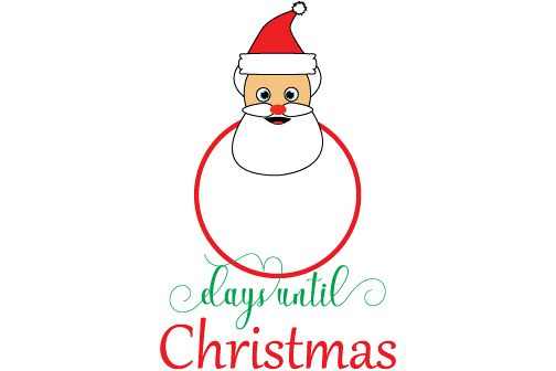 How Many Days Until Christmas Eve.Days Until Christmas Instant Download Vector Clipart Holiday