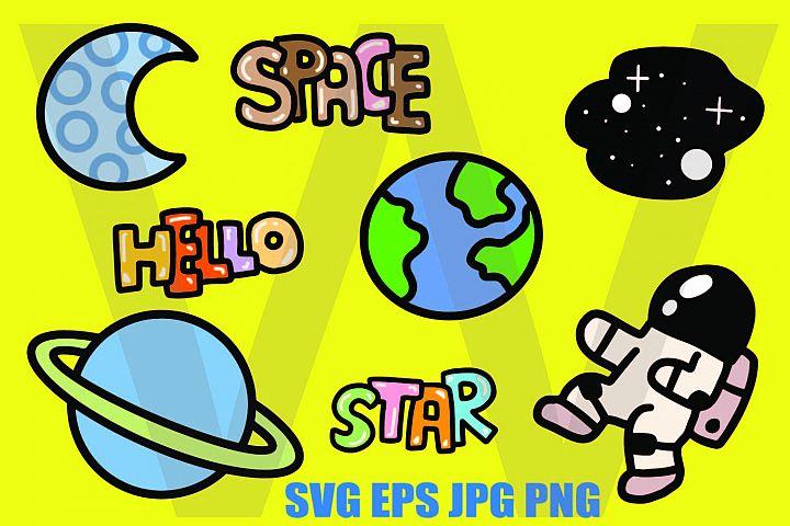Space Elements - SVG EPS JPG P