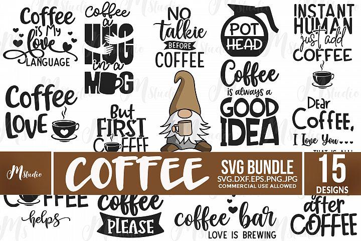 Coffee Quotes SVG Bundle