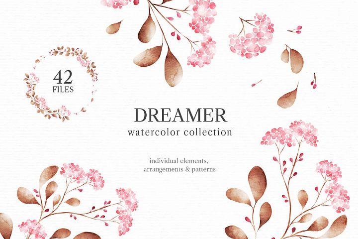Dreamer. Watercollor Collection.