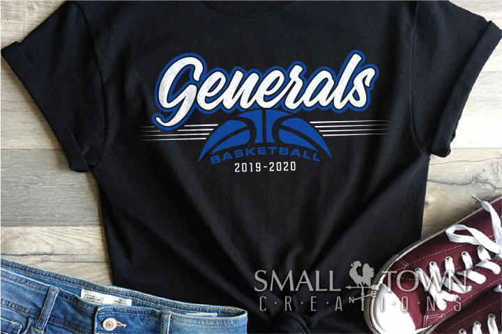 Generals, Basketball, Sports, Design, PRINT, CUT, DESIGN
