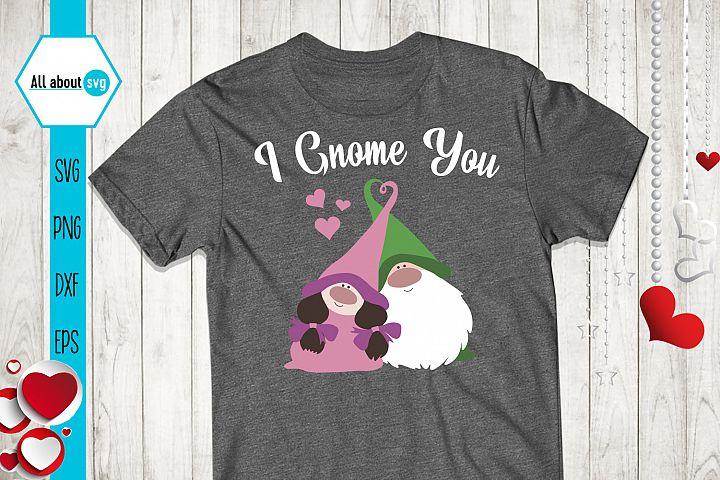 I Gnome You Svg, Valentine's Svg, Gnome In Love Svg example image 4