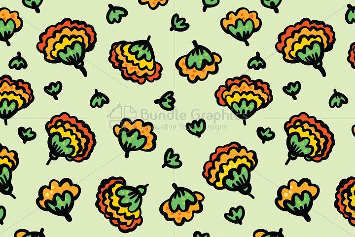 Marigold Flowers - Beautiful Genda Flower Seamless Background