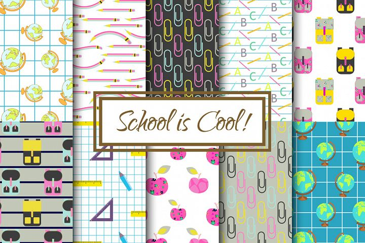 School is Cool Pattern Set