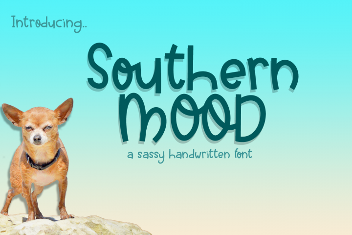 Southern Mood - a sassy handwritten font