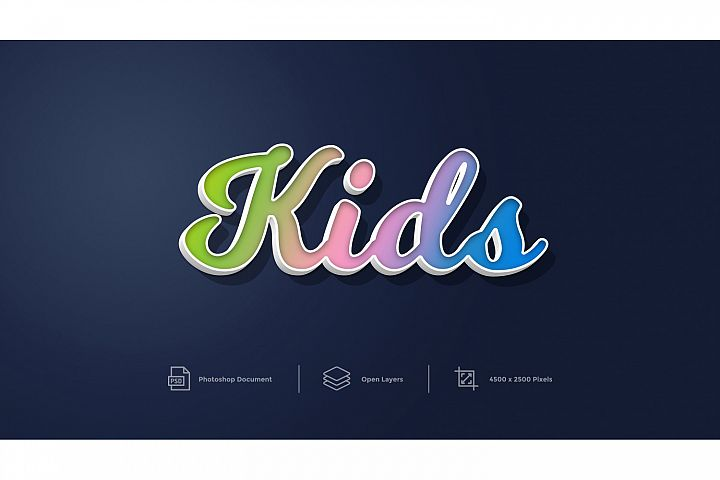 Kids Text Effect Design Photoshop Layer Style Effect