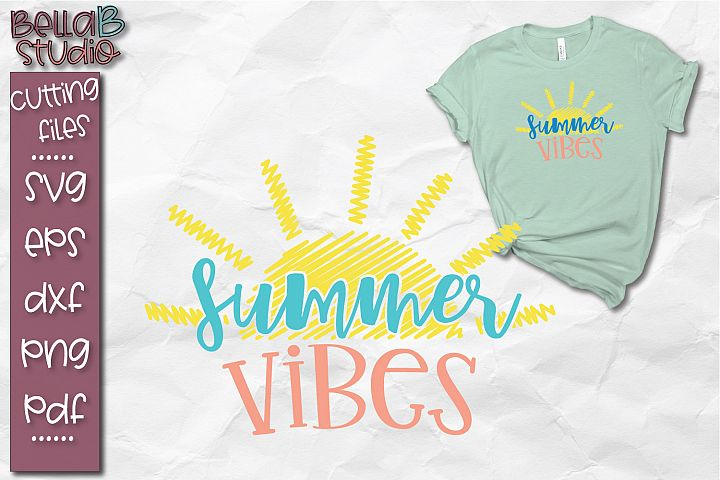 Summer Vibes SVG, Summer SVG, Beach SVG, Sun, Distressed