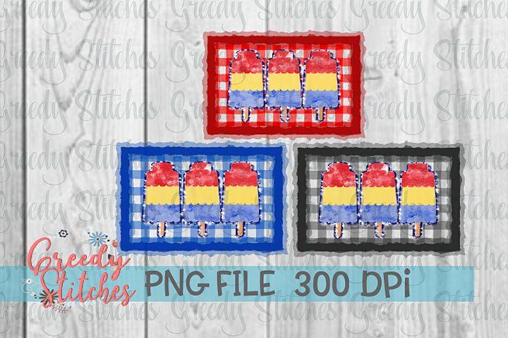 Popsicle Sublimation PNG Bundle