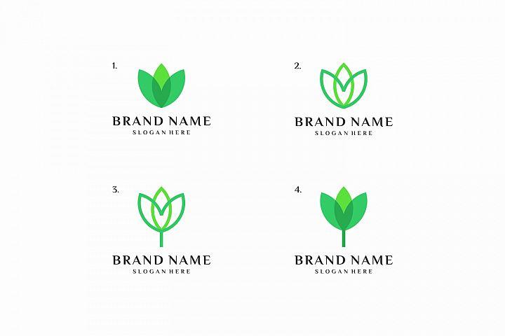 4 Minimal Nature Logo Templates