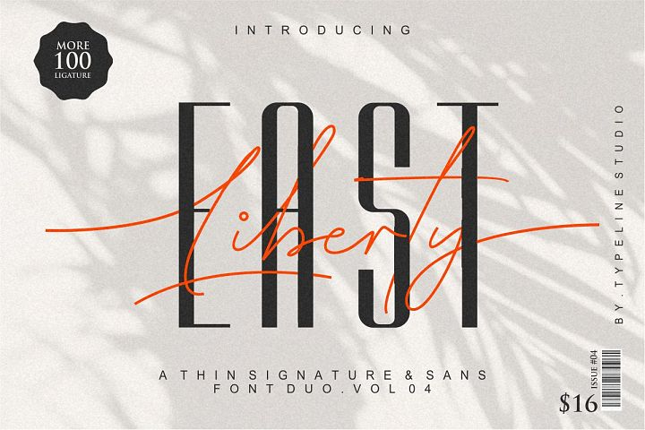 East liberty | Signature & sans serif