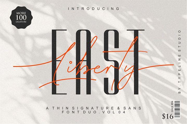 East liberty | Signature & sans serif