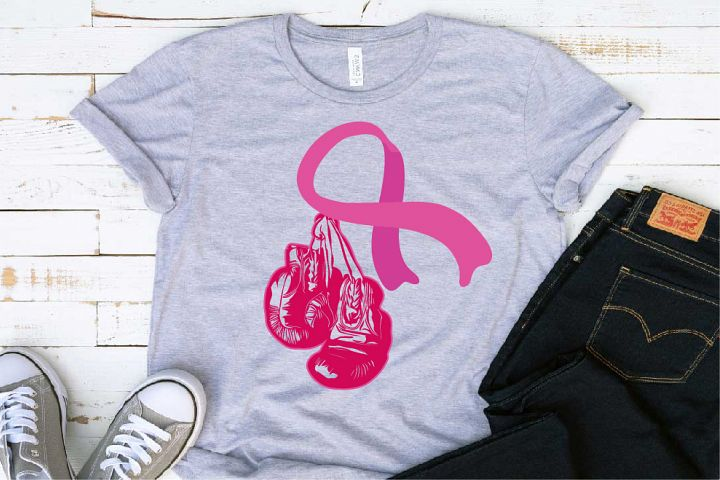 Winner Boxing Gloves Hanging On Breast Cancer 1463S