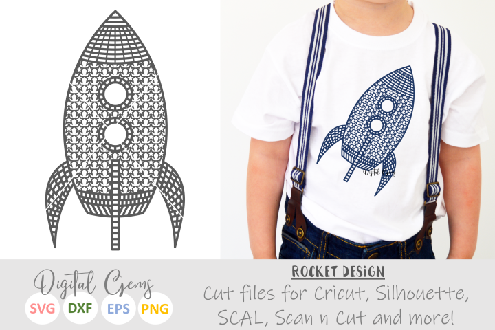 Rocket SVG / PNG / EPS / DXF files