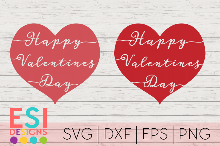 Valentines Day SVG | Happy Valentines Day Hearts