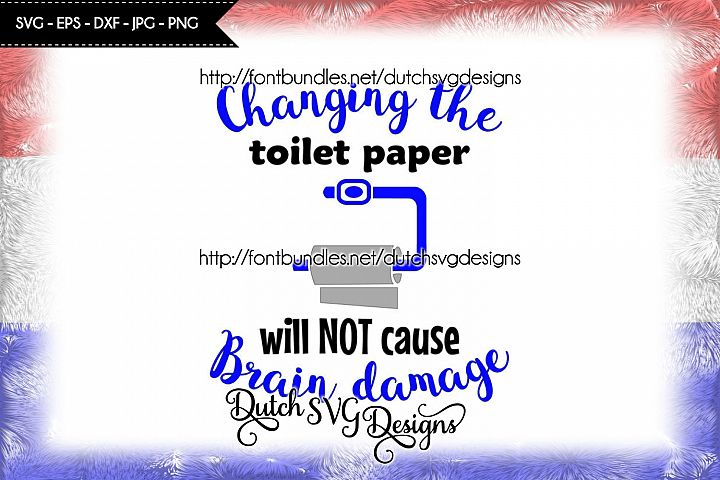 Text cutting file Toilet Paper, in Jpg Png SVG EPS DXF, for Cricut & Silhouette, toilet svg, toilet paper svg, toilet text svg, bathroom svg