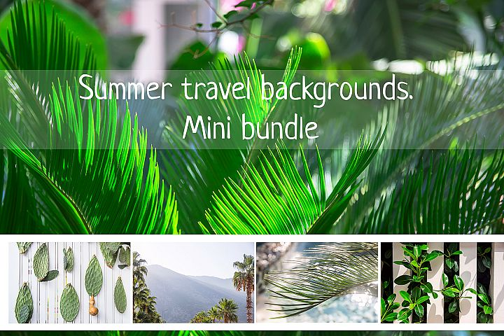 SUMMER TRAVEL BACKGROUNDS BUNDLE