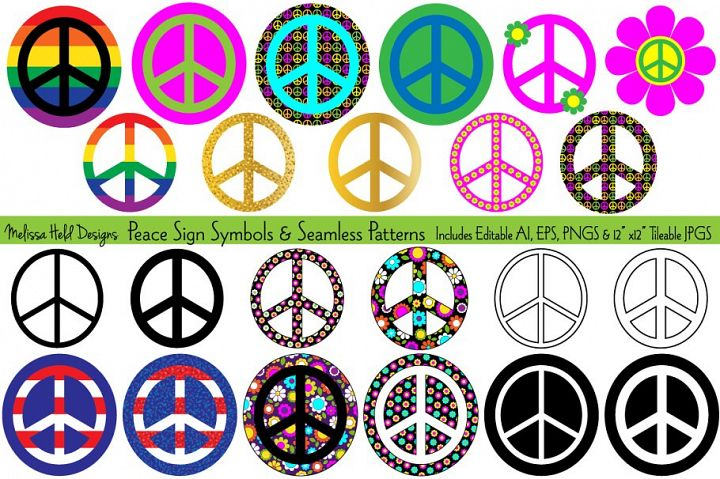 Peace Signs & Seamless Patterns