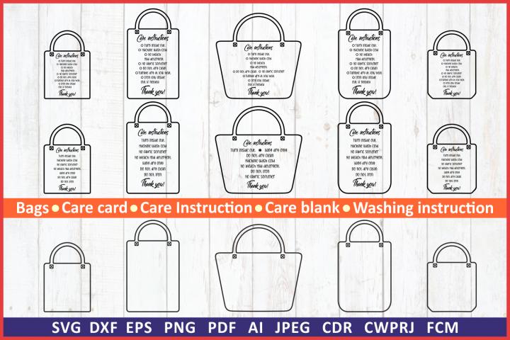 Care instruction svg. Care Card bundle Shopping Tote Bag svg