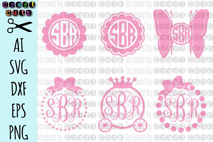Girly Monogram svg, Monogram svg Set, Princess svg, Bow Monogram SVG, Butterfly svg, Monogram Cut Files, Princess Cut Files