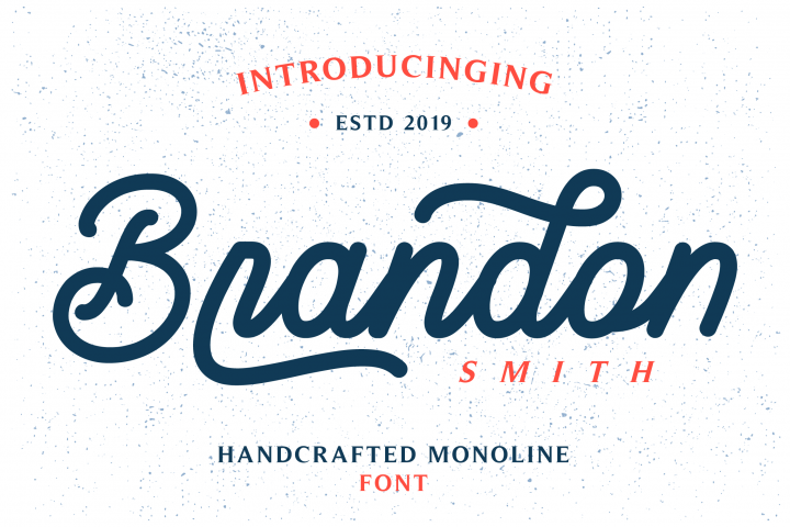 Brandon Smith - Handcrafted Monoline Font