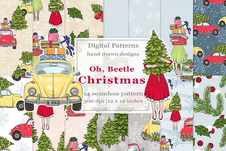 Oh, Beetle Christmas - Digital Pattern