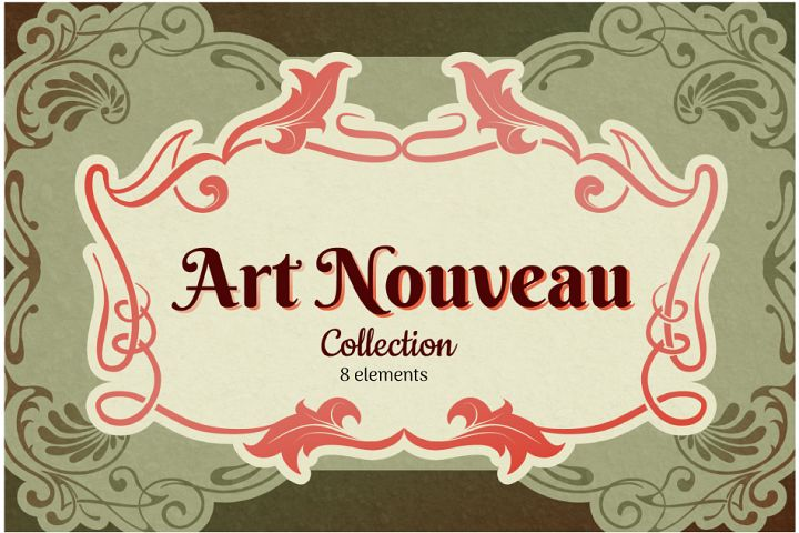 Art Nouveau Frame Collection