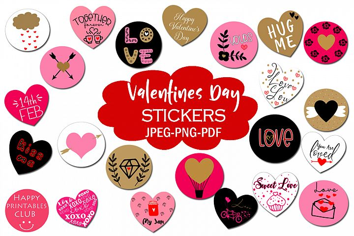 Valentines Day Stickers- Cute Stickers Valentines Day