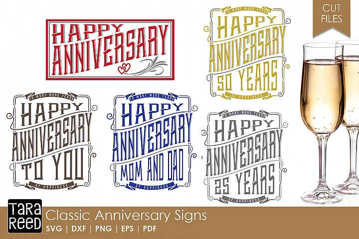 Classic Anniversary Sign - Anniversary SVG Files for Crafter