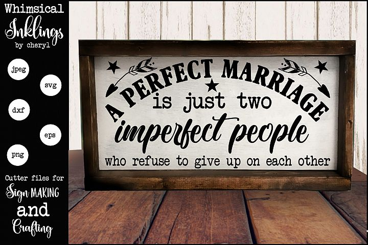 A Perfect Marriage SVG