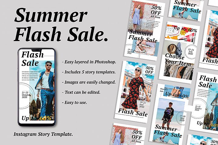 Flash Sale Instagram Story