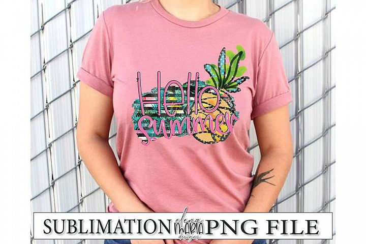 Hello Summer PNG | Beach Sublimation Transfer example